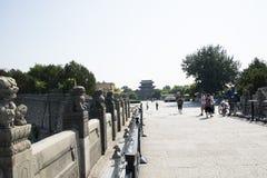 Ασιατική Κίνα, Πεκίνο, γέφυρα Lugou, θέσεις του ιστορικού ενδιαφέροντος και της φυσικής ομορφιάς Στοκ φωτογραφία με δικαίωμα ελεύθερης χρήσης