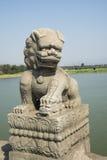 Ασιατική Κίνα, Πεκίνο, γέφυρα Lugou, θέσεις του ιστορικού ενδιαφέροντος και της φυσικής ομορφιάς Στοκ Εικόνες
