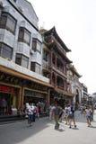 Ασιατική Κίνα, Πεκίνο, εμπορική οδός Qianmen Dashilan, Στοκ εικόνα με δικαίωμα ελεύθερης χρήσης