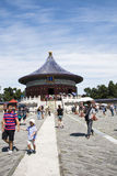 Ασιατική Κίνα, Πεκίνο, πάρκο Tiantan, ο αυτοκρατορικός υπόγειος θάλαμος του ουρανού, ιστορικά κτήρια Στοκ εικόνα με δικαίωμα ελεύθερης χρήσης