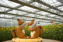 Ασιατική Κίνα, Πεκίνο, σκίουρος ŒThe, ζώο Carnivalï ¼ γεωργίας κινούμενων σχεδίων Στοκ φωτογραφία με δικαίωμα ελεύθερης χρήσης