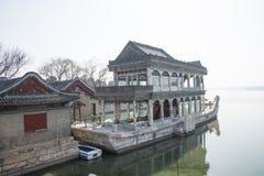 Ασιατική Κίνα, Πεκίνο, το θερινό παλάτι, κυνόδοντας Shi στοκ φωτογραφία
