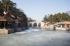 Ασιατική Κίνα, Πεκίνο το θερινό παλάτι, οδός Suzhou Στοκ Φωτογραφία