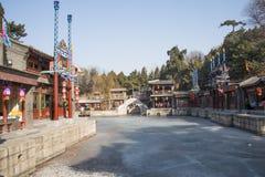 Ασιατική Κίνα, Πεκίνο το θερινό παλάτι, οδός Suzhou Στοκ φωτογραφίες με δικαίωμα ελεύθερης χρήσης
