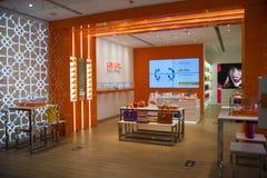 Ασιατική Κίνα, Πεκίνο, Wangfujing, εμπορικό κέντρο APM, εσωτερικό κατάστημα σχεδίου, Στοκ Εικόνες