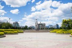 Ασιατική Κίνα, Πεκίνο, Yanqing, πλατεία Guichuan Στοκ Εικόνα