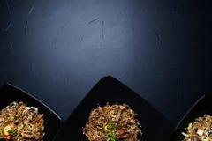 Ασιατική κατάταξη επιλογών οικογενειακών γευμάτων εστιατορίων Στοκ Φωτογραφίες