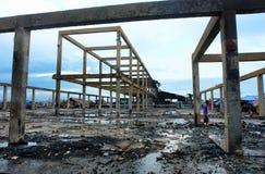 ασιατική καταστροφή πόλε&o Στοκ Φωτογραφία