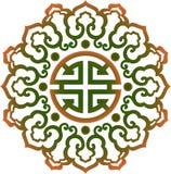 Ασιατική κινεζική διακόσμηση, ασιατικό παραδοσιακό σχέδιο, Στοκ Εικόνα