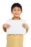 Ασιατική κινεζική κενή λευκιά επιτροπή εκμετάλλευσης παιδιών Στοκ εικόνα με δικαίωμα ελεύθερης χρήσης