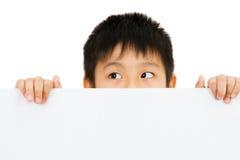 Ασιατική κινεζική κενή λευκιά επιτροπή εκμετάλλευσης παιδιών Στοκ Εικόνα