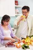 ασιατική κουζίνα ζευγών &d στοκ εικόνες με δικαίωμα ελεύθερης χρήσης