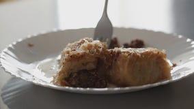 Ασιατική κουζίνα: Κέικ Baklava απόθεμα βίντεο
