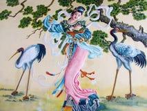 Ασιατική μυθολογική ζωγραφική Στοκ Φωτογραφία