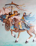 Ασιατική μυθολογική ζωγραφική Στοκ φωτογραφία με δικαίωμα ελεύθερης χρήσης