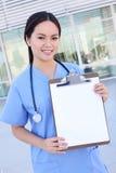ασιατική νοσοκόμα νοσο&kapp Στοκ Εικόνα