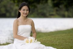 ασιατική νύφη 9 στοκ εικόνα