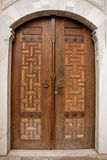 Ασιατική ξύλινη πόρτα Στοκ Φωτογραφία
