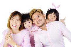 ασιατική οικογένεια ευτυχής Στοκ εικόνες με δικαίωμα ελεύθερης χρήσης