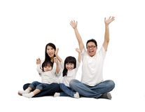 ασιατική οικογένεια ε&upsilon Στοκ εικόνα με δικαίωμα ελεύθερης χρήσης