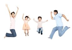 ασιατική οικογένεια ε&upsilon Στοκ εικόνες με δικαίωμα ελεύθερης χρήσης