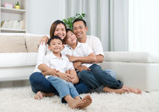 ασιατική οικογένεια Στοκ Φωτογραφία