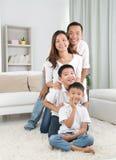 ασιατική οικογένεια Στοκ Φωτογραφίες