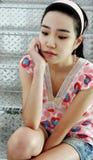 ασιατική πανέμορφη γυναίκα στοκ φωτογραφία