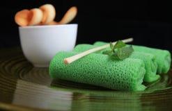 ασιατική πράσινη άνοιξη ρόλ&omega Στοκ εικόνα με δικαίωμα ελεύθερης χρήσης