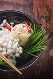Ασιατική προετοιμασία μεσημεριανού γεύματος Στοκ Εικόνα