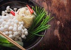 Ασιατική προετοιμασία μεσημεριανού γεύματος Στοκ Φωτογραφία
