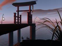 ασιατική πύλη Στοκ Φωτογραφίες