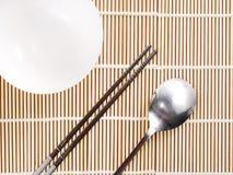 Ασιατική ρύθμιση θέσεων πιάτων Στοκ Φωτογραφία
