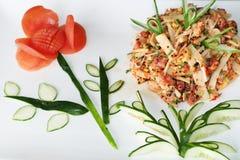 Ασιατική σαλάτα ψαριών Στοκ Φωτογραφία