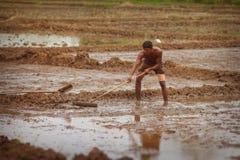 Ασιατική σκληρή δουλειά αγροτών Στοκ φωτογραφία με δικαίωμα ελεύθερης χρήσης