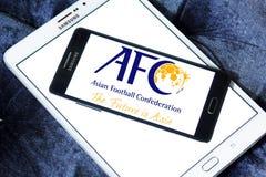 Ασιατική συνομοσπονδία ποδοσφαίρου, afc λογότυπο Στοκ Εικόνα