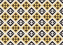 Ασιατική συλλογή διακοσμήσεων Ιστορικά διακοσμητικός των νομαδικών ανθρώπων Βάσισε στους τάπητες πραγματικός-Καζάκος αισθητός και διανυσματική απεικόνιση