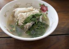 Ασιατική ταϊλανδική έννοια γεύματος ρυζιού σούπας ψαριών τροφίμων Στοκ φωτογραφίες με δικαίωμα ελεύθερης χρήσης
