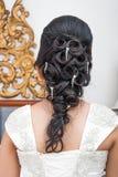 Ασιατική ταϊλανδική νύφη με το όμορφο ύφος τρίχας Στοκ Φωτογραφίες
