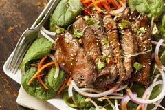Ασιατική τεμαχισμένη σαλάτα βόειου κρέατος Στοκ φωτογραφίες με δικαίωμα ελεύθερης χρήσης