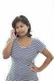 ασιατική τηλεφωνική γυναίκα στοκ εικόνα με δικαίωμα ελεύθερης χρήσης