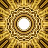 Ασιατική χρυσή διακόσμηση Στοκ Εικόνες