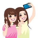 Ασιατικοί φίλοι Selfie διανυσματική απεικόνιση