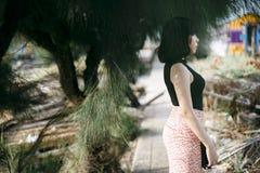 Ασιατικός έφηβος φεμινιστική θέτοντας κυρία Girl Concept έθνους Στοκ φωτογραφία με δικαίωμα ελεύθερης χρήσης