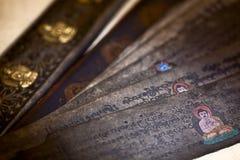 ασιατικός ανεμιστήρας ξύλινος Στοκ Εικόνες