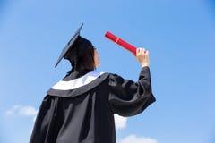 Ασιατικός απόφοιτος φοιτητής στοκ φωτογραφία με δικαίωμα ελεύθερης χρήσης