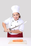 Ασιατικός αρχιμάγειρας γυναικών Στοκ φωτογραφία με δικαίωμα ελεύθερης χρήσης