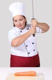 Ασιατικός αρχιμάγειρας γυναικών Στοκ Φωτογραφίες