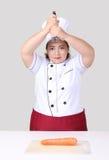 Ασιατικός αρχιμάγειρας γυναικών Στοκ εικόνες με δικαίωμα ελεύθερης χρήσης