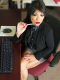 ασιατικός γραμματέας γρα Στοκ φωτογραφία με δικαίωμα ελεύθερης χρήσης